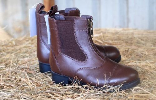 Todhpurs Zip Fronted Jodhpur Boots in Brown